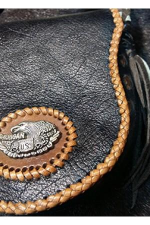 Кожаная сумка на ремень