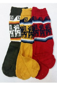 Носки из  шерсти ламы
