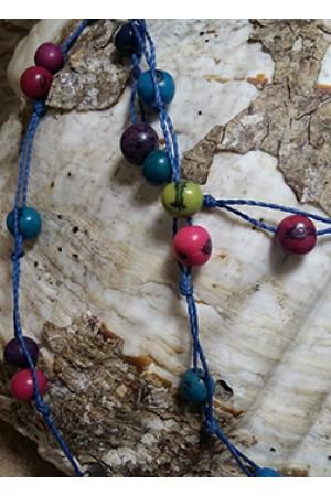 Колье из амазонских семян Азаи бохо