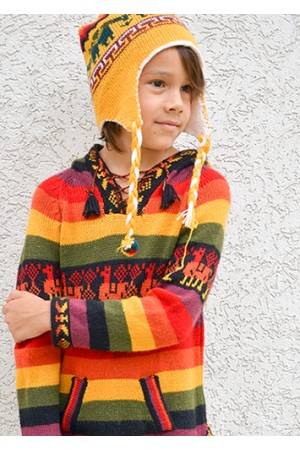 Детский свитер  из шерсти ламы Шакира