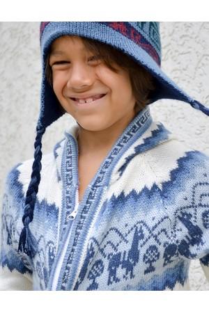 Детская кофта из шерсти ламы на замке